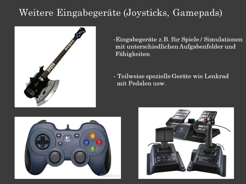 Weitere Eingabegeräte (Joysticks, Gamepads)