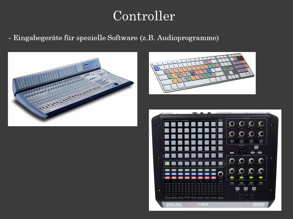Controller - Eingabegeräte für spezielle Software (z.B. Audioprogramme)