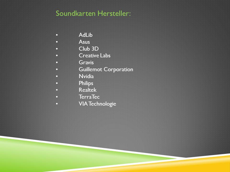 Soundkarten Hersteller: