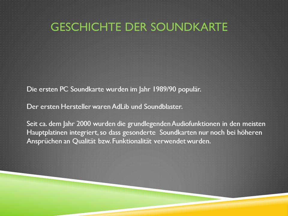 Geschichte der Soundkarte