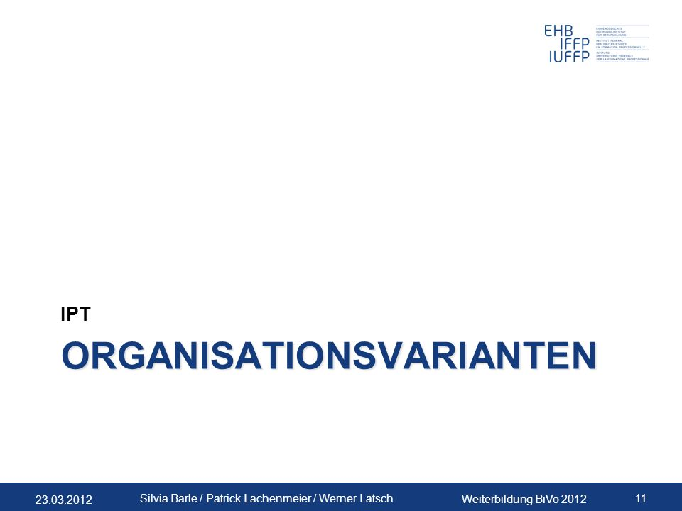 Organisationsvarianten
