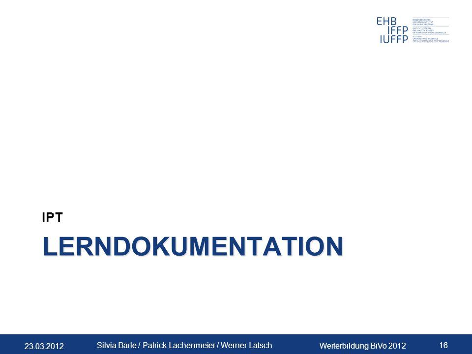 IPT Lerndokumentation PLA