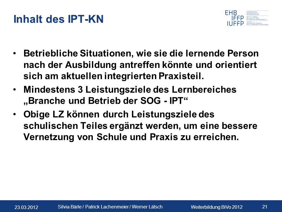 Inhalt des IPT-KN