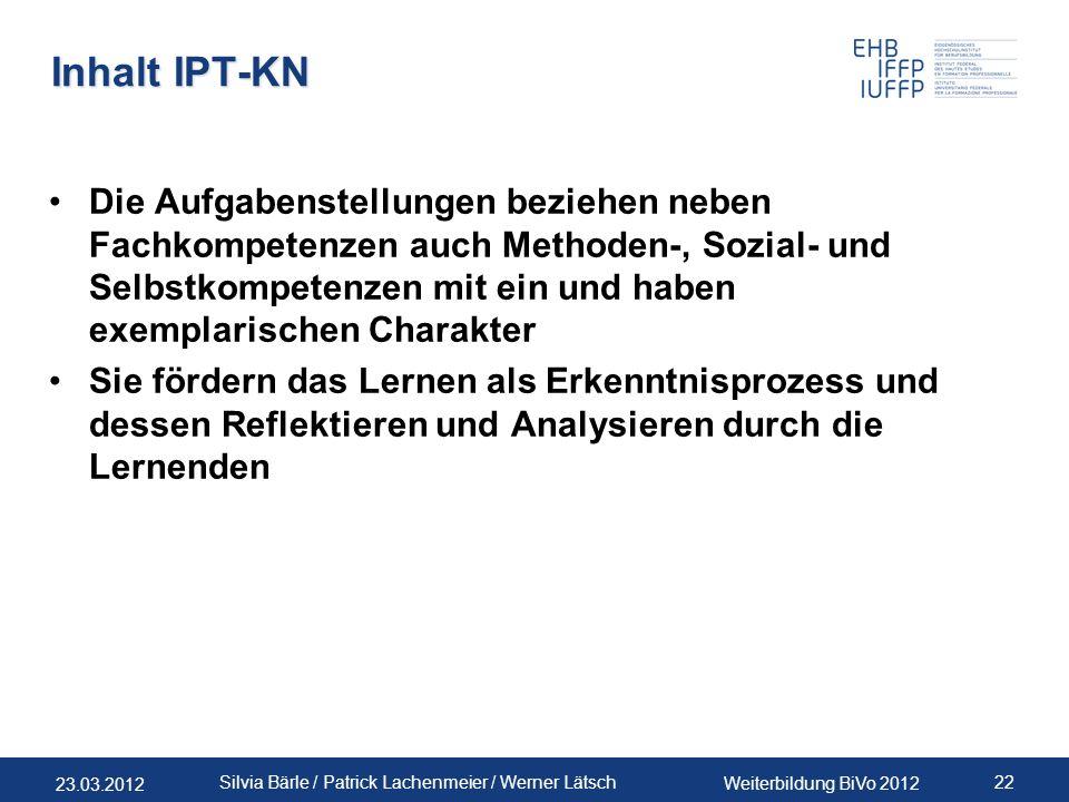 Inhalt IPT-KN