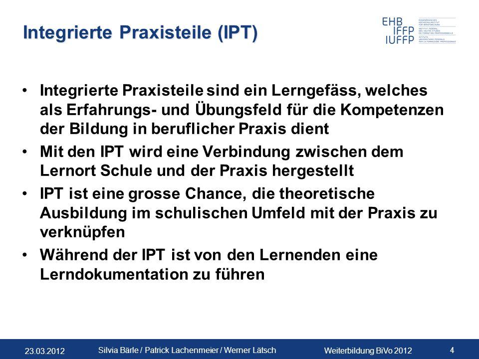 Integrierte Praxisteile (IPT)