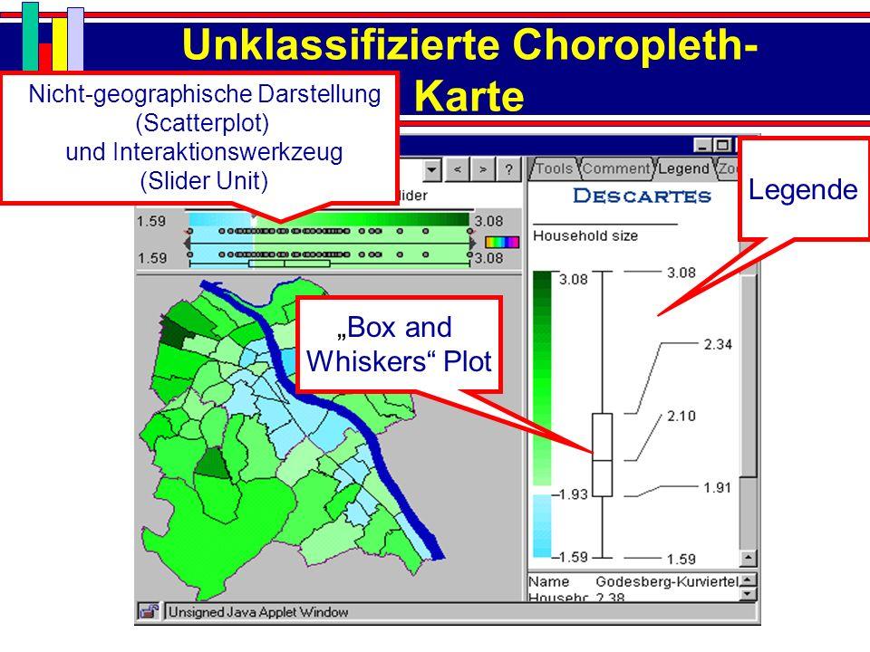 Unklassifizierte Choropleth-Karte