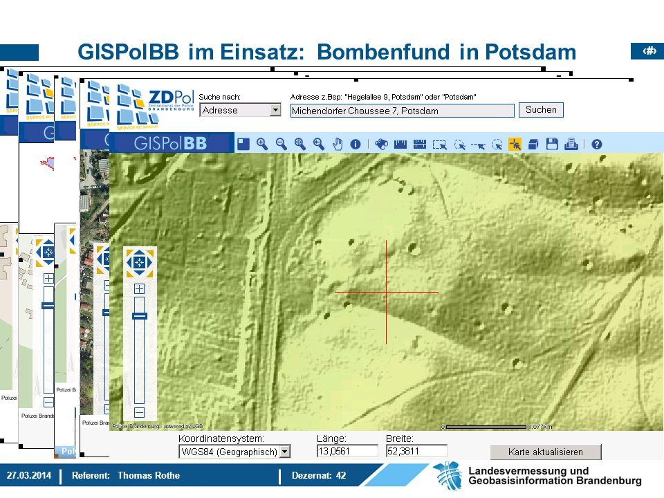 GISPolBB im Einsatz: Bombenfund in Potsdam