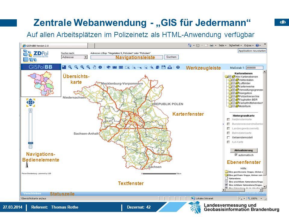 """Zentrale Webanwendung - """"GIS für Jedermann"""