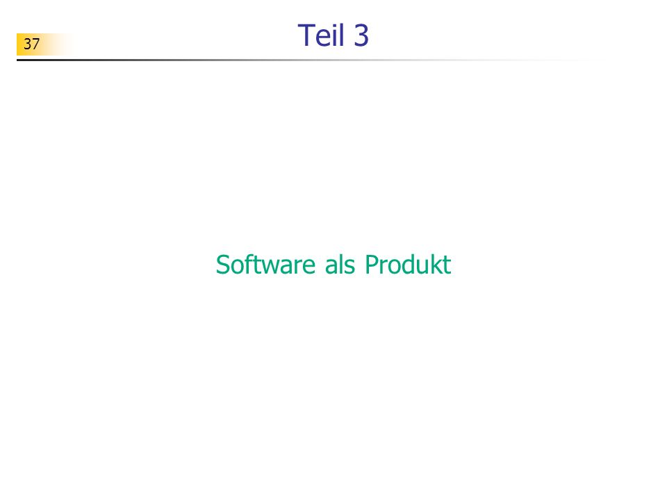 Teil 3 Software als Produkt