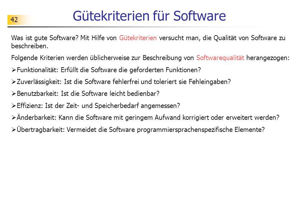 Gütekriterien für Software