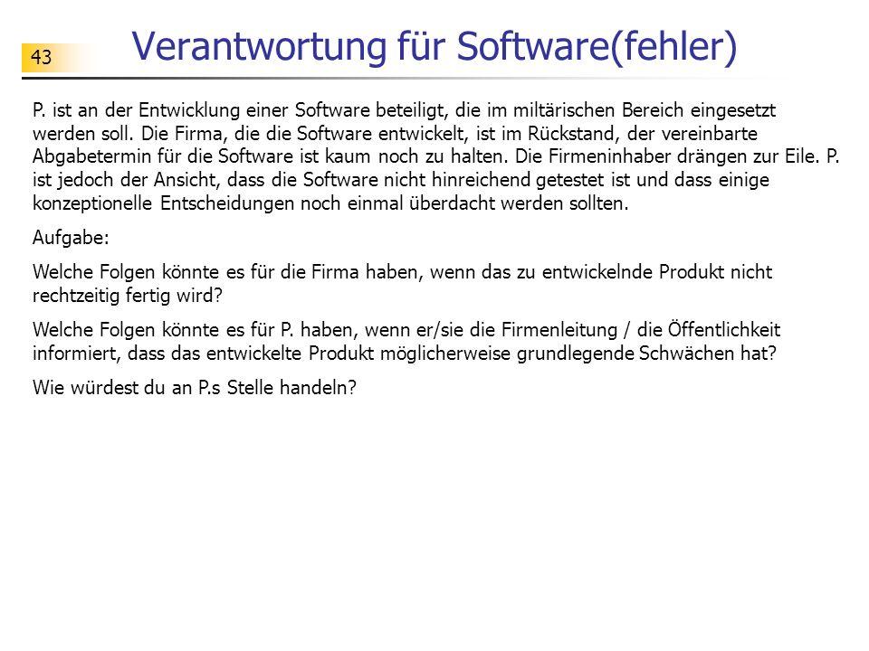 Verantwortung für Software(fehler)