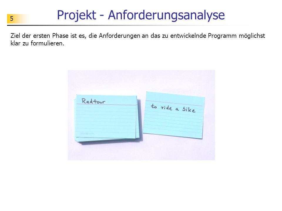 Projekt - Anforderungsanalyse