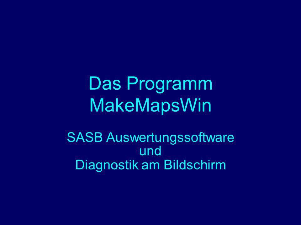 Das Programm MakeMapsWin