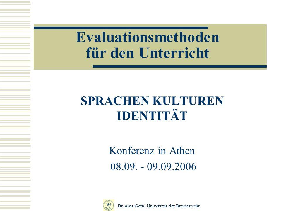 Evaluationsmethoden für den Unterricht