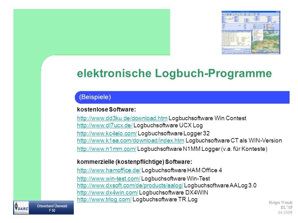 elektronische Logbuch-Programme