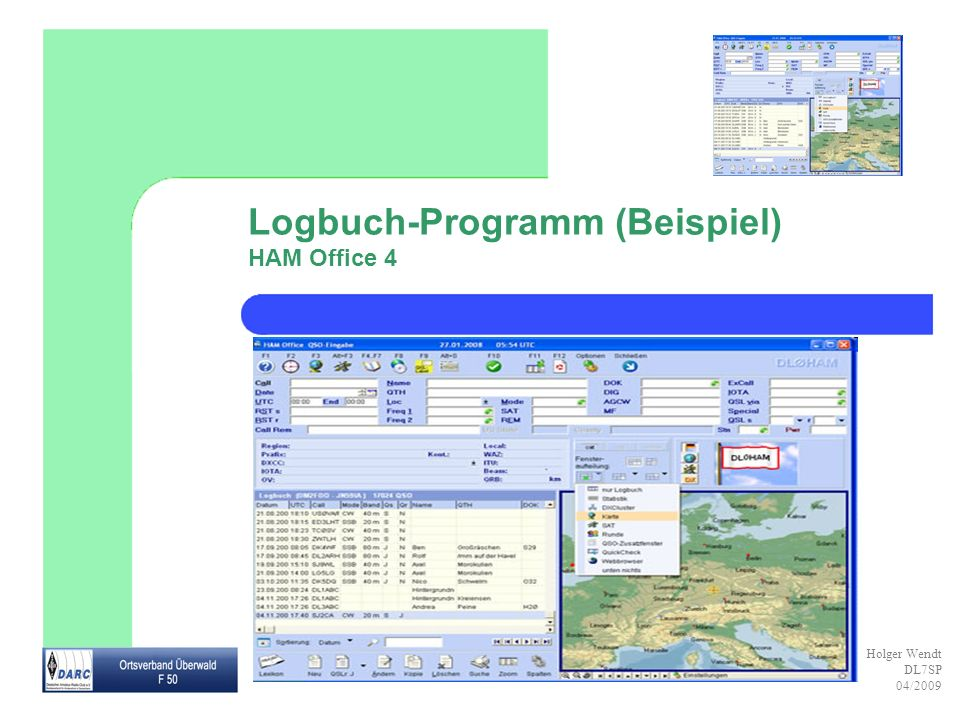 Logbuch-Programm (Beispiel) HAM Office 4
