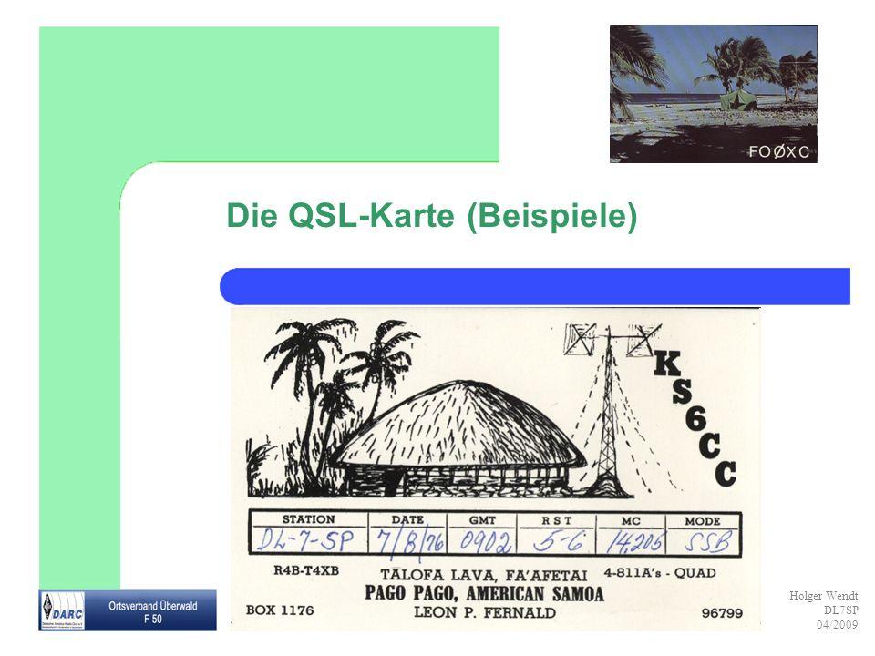 Die QSL-Karte (Beispiele)