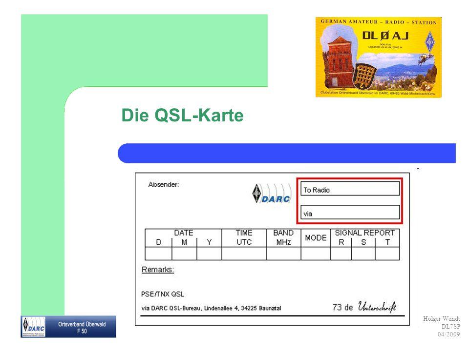 Die QSL-Karte