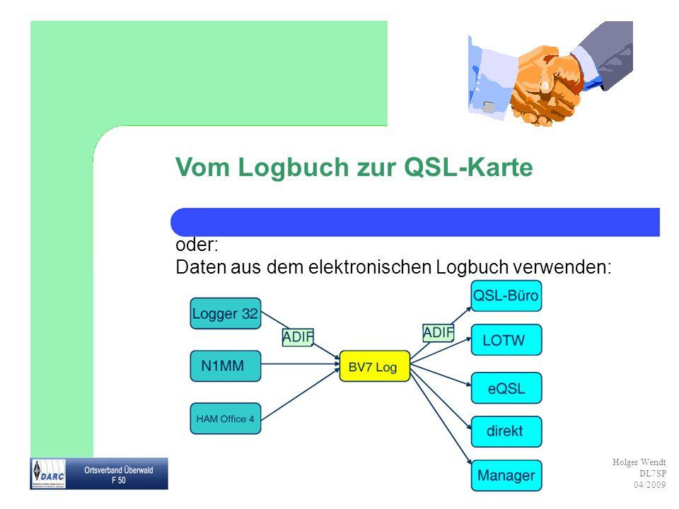 Vom Logbuch zur QSL-Karte