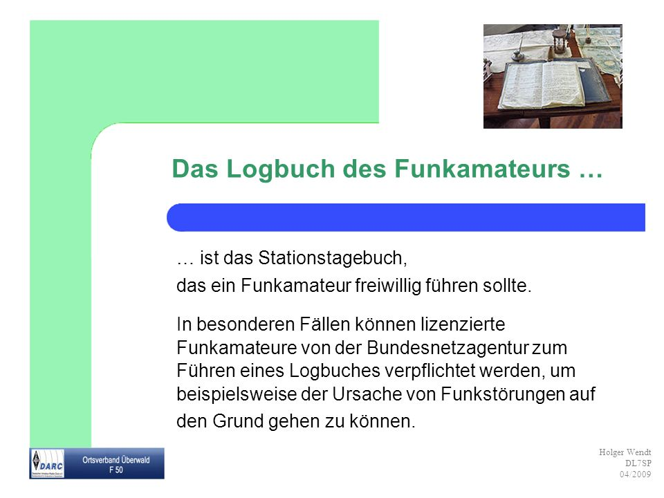Das Logbuch des Funkamateurs …