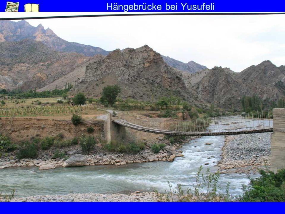 Hängebrücke bei Yusufeli