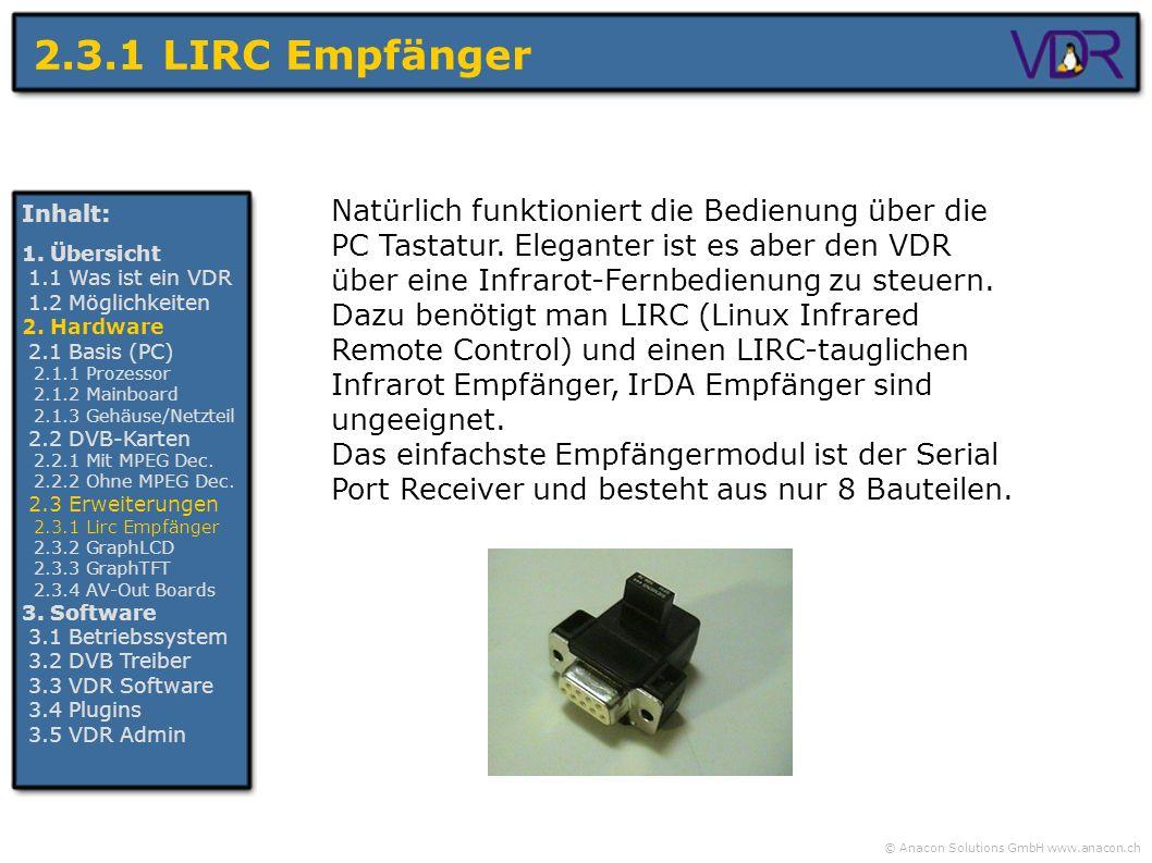 2.3.1 LIRC Empfänger