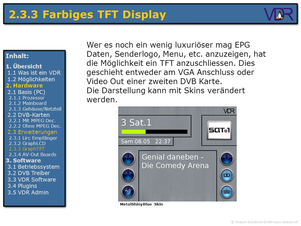 2.3.3 Farbiges TFT Display