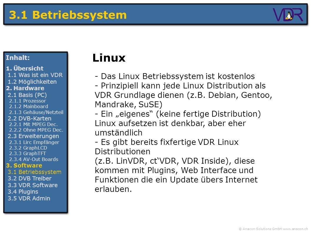 3.1 Betriebssystem Linux - Das Linux Betriebssystem ist kostenlos