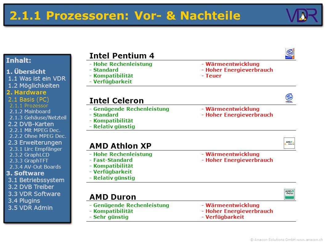 2.1.1 Prozessoren: Vor- & Nachteile