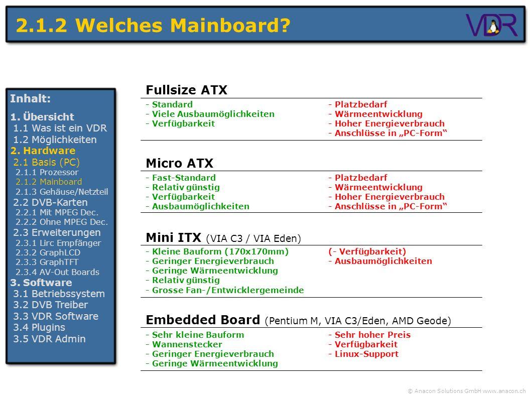 2.1.2 Welches Mainboard Fullsize ATX Micro ATX