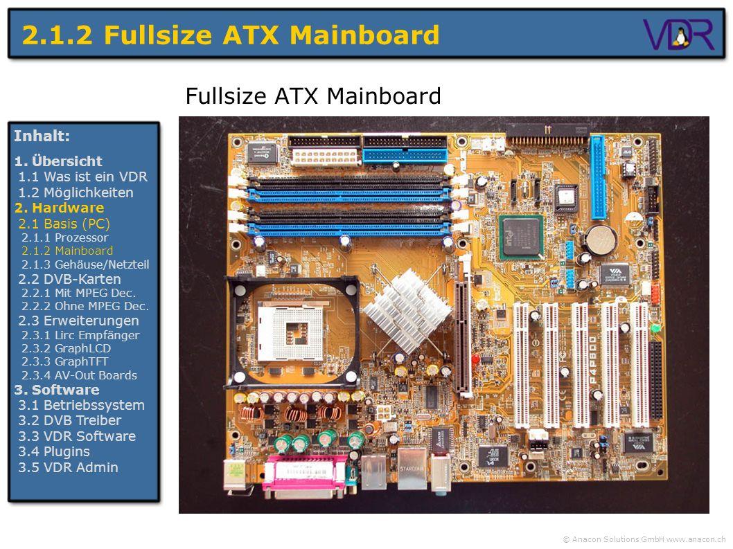 2.1.2 Fullsize ATX Mainboard