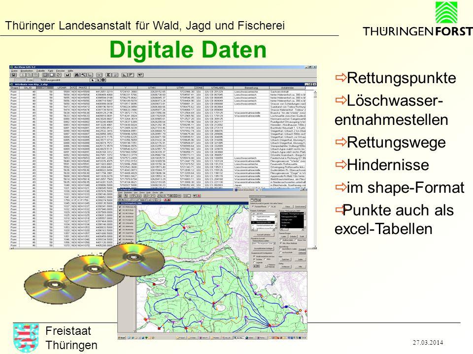 Digitale Daten Rettungspunkte Löschwasser-entnahmestellen Rettungswege