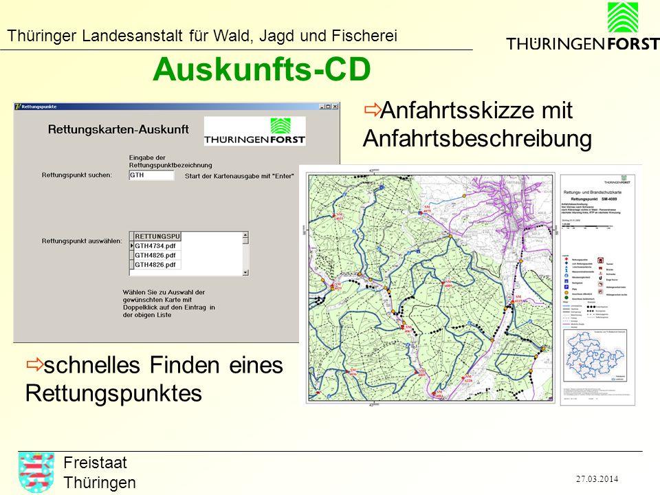 Auskunfts-CD Anfahrtsskizze mit Anfahrtsbeschreibung