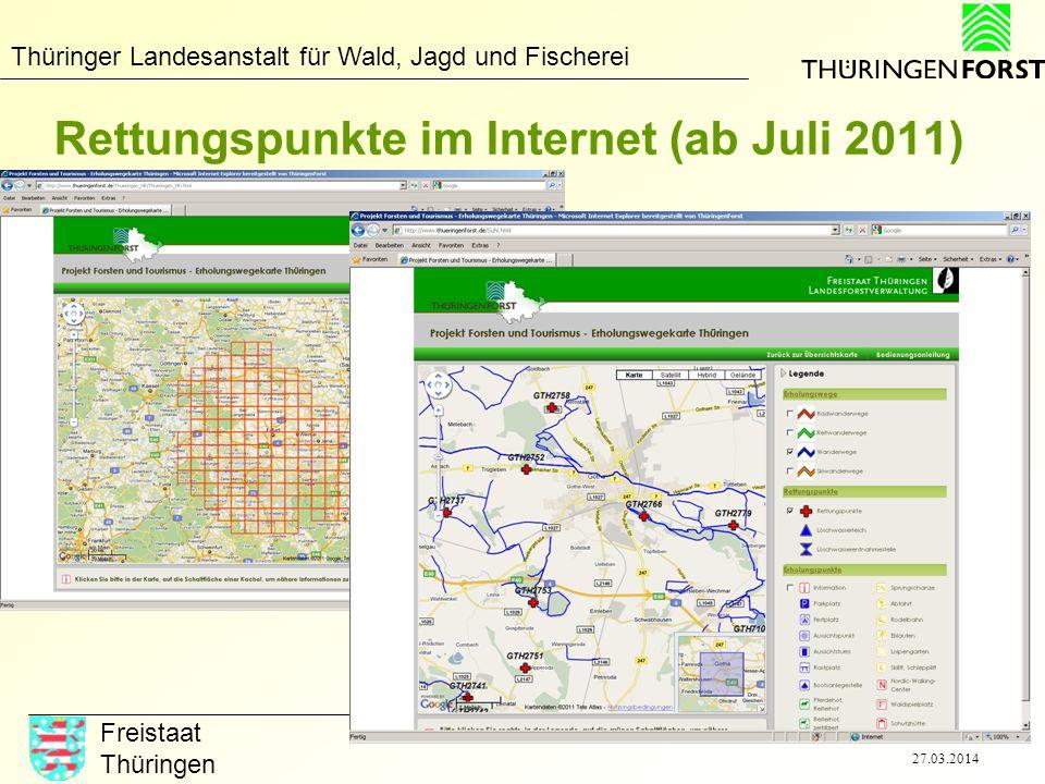 Rettungspunkte im Internet (ab Juli 2011)