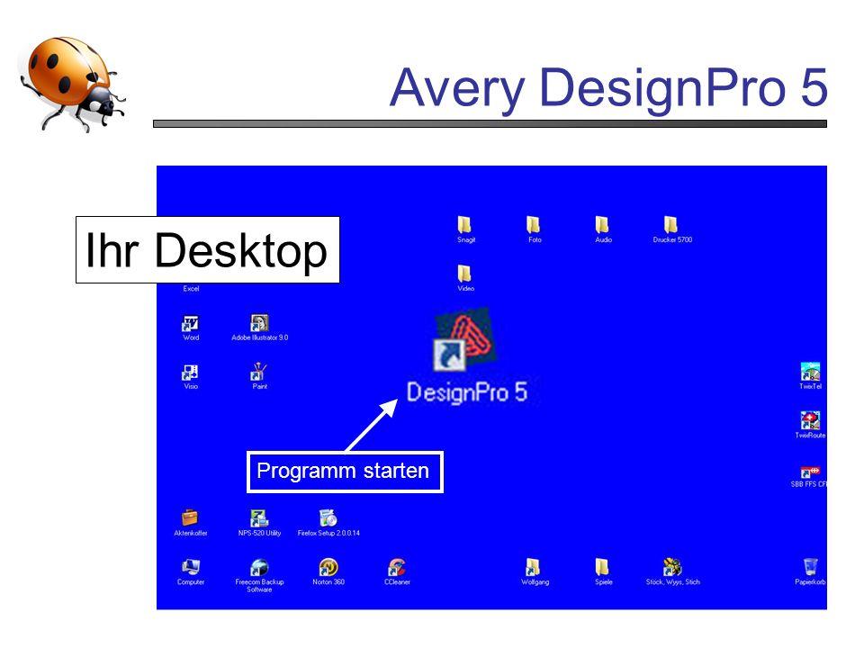 Ihr Desktop Programm starten