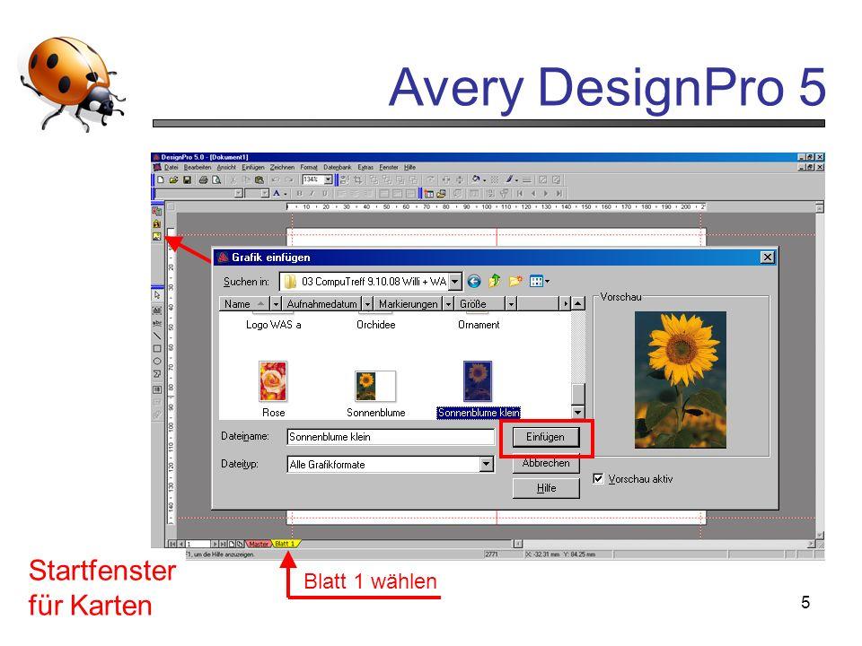 """Startfenster für Karten """"Einfügen Grafik aus Datenbank anklicken"""
