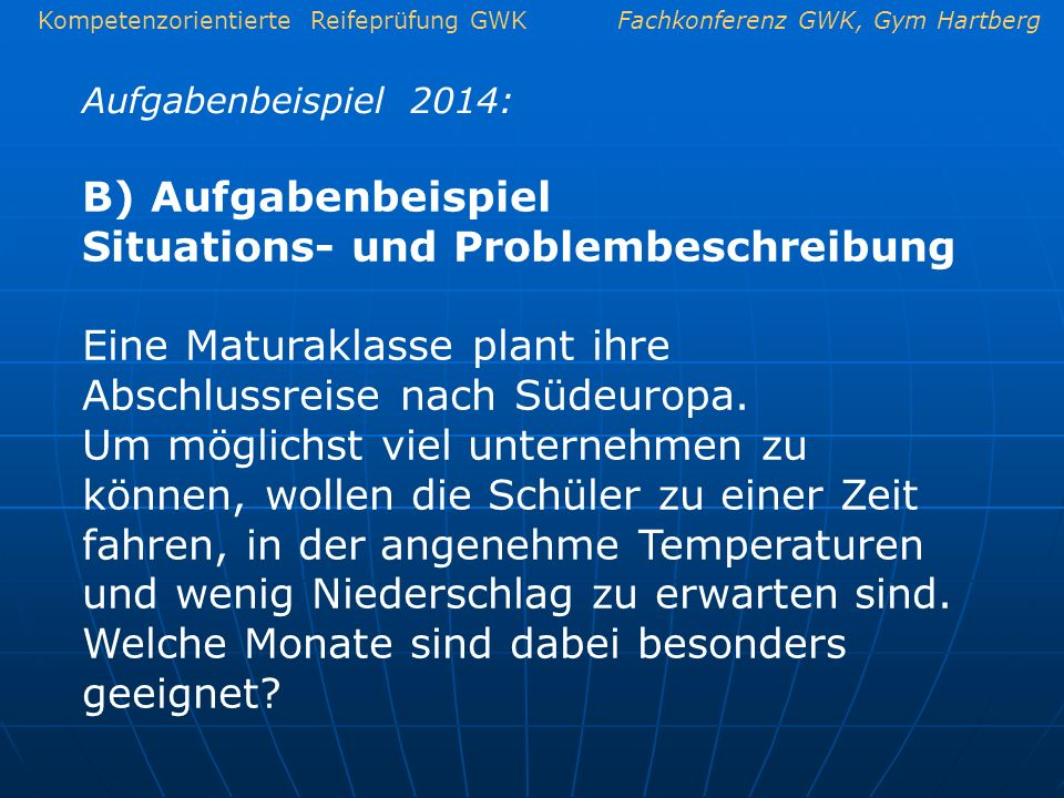 Situations- und Problembeschreibung