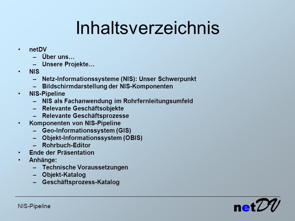Inhaltsverzeichnis netDV Über uns… Unsere Projekte… NIS