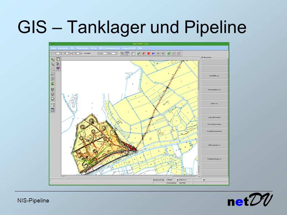 GIS – Tanklager und Pipeline