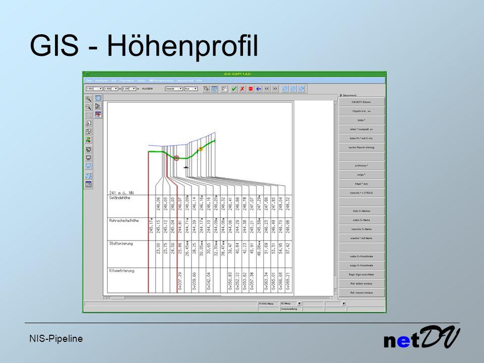 GIS - Höhenprofil NIS-Pipeline