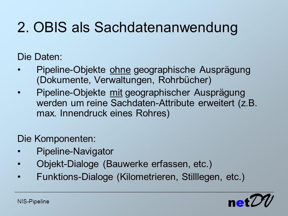 2. OBIS als Sachdatenanwendung