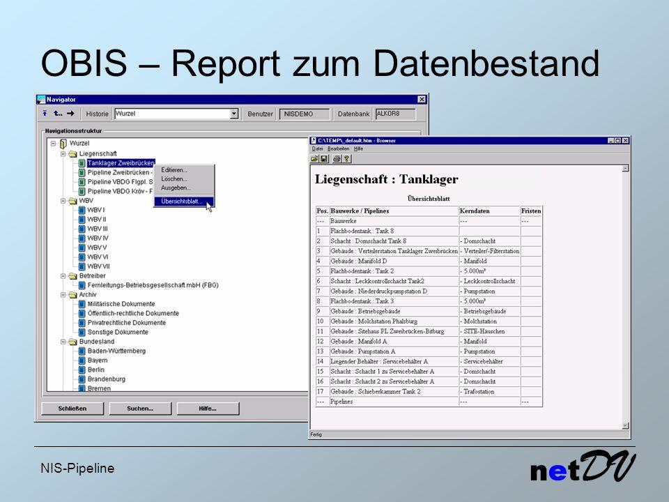 OBIS – Report zum Datenbestand