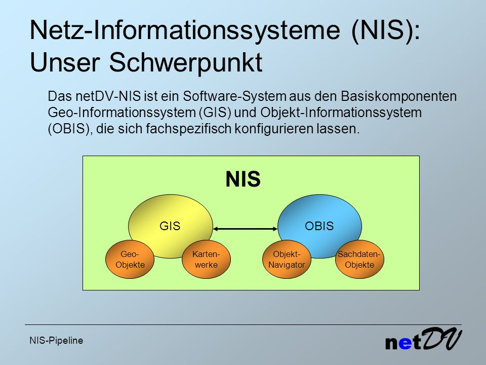 Netz-Informationssysteme (NIS): Unser Schwerpunkt