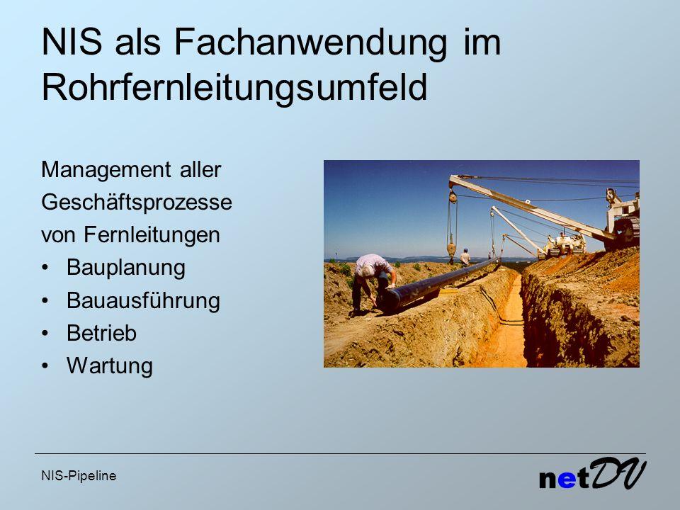 NIS als Fachanwendung im Rohrfernleitungsumfeld