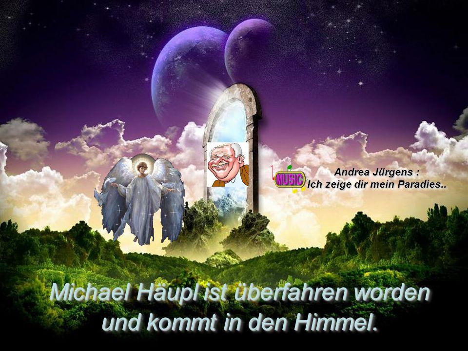 Michael Häupl ist überfahren worden und kommt in den Himmel.