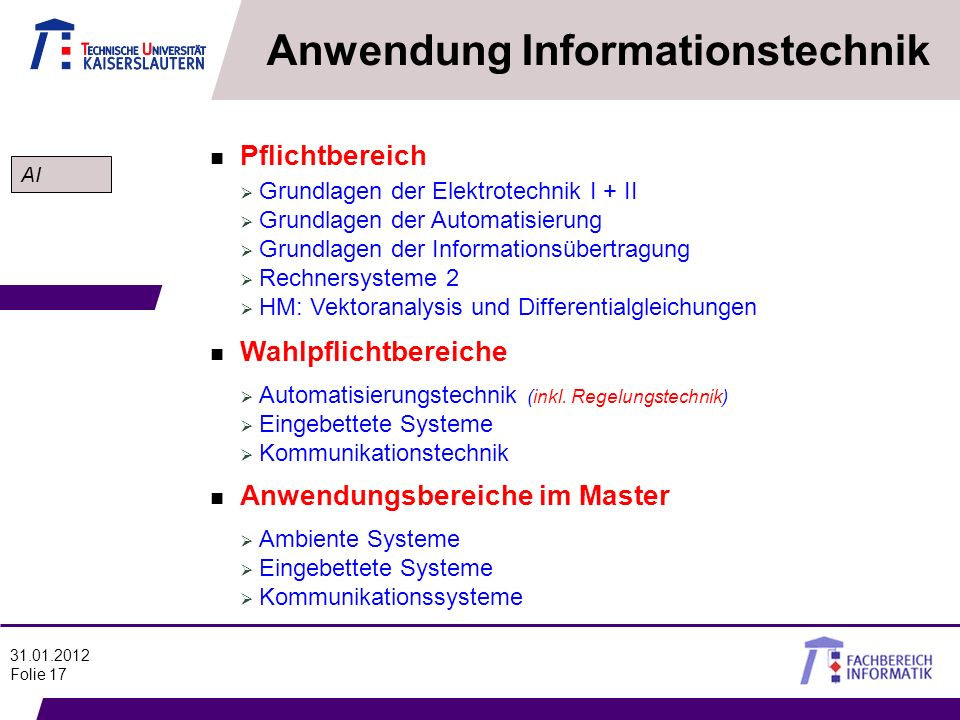 Anwendung Informationstechnik