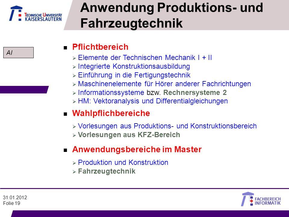 Anwendung Produktions- und Fahrzeugtechnik