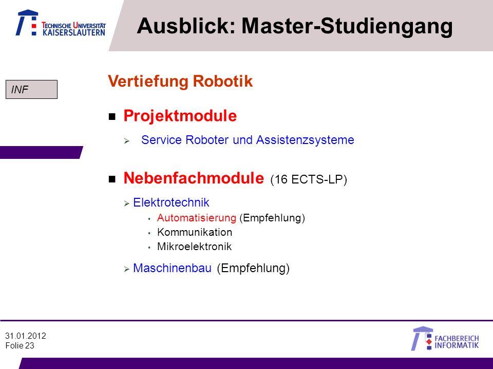 Ausblick: Master-Studiengang