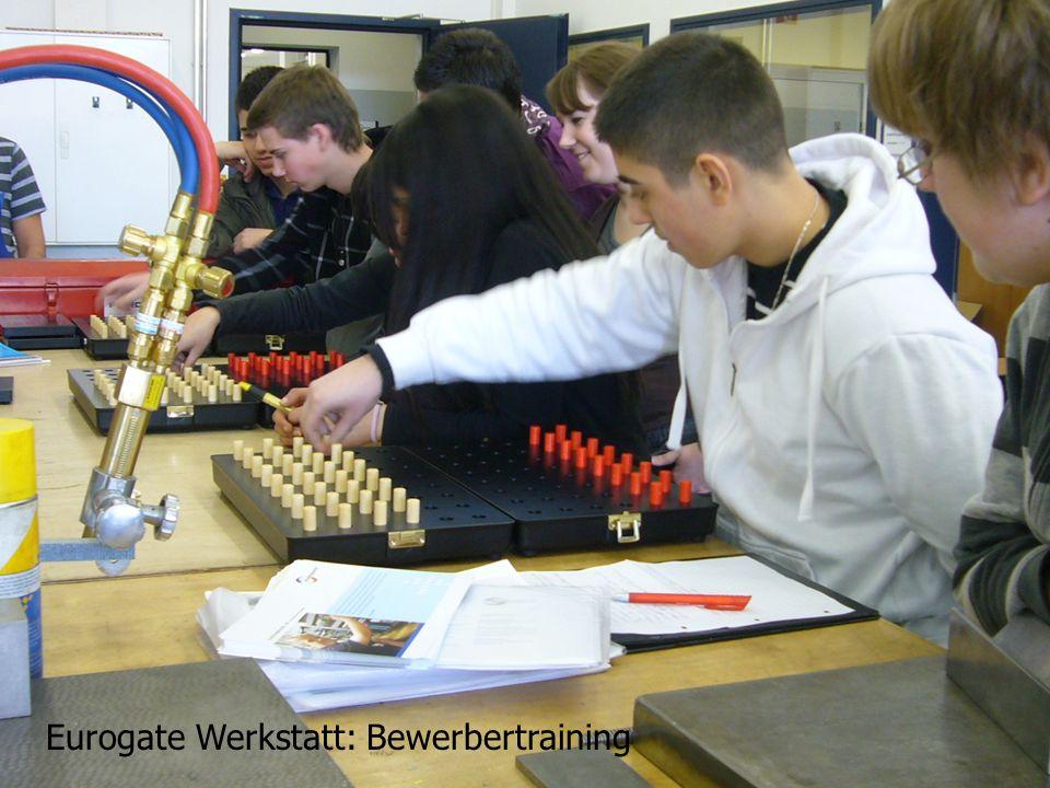 Eurogate Werkstatt: Bewerbertraining