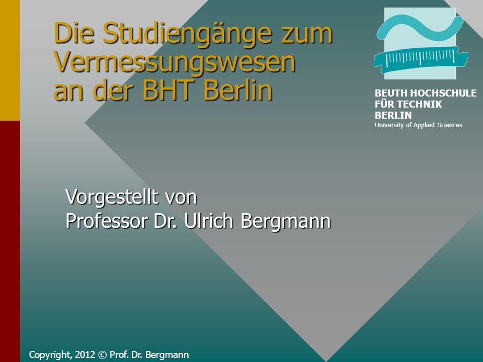 Die Studiengänge zum Vermessungswesen an der BHT Berlin